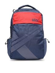 HRX by Hrithik Roshan Men Navy & Red Laptop Backpack