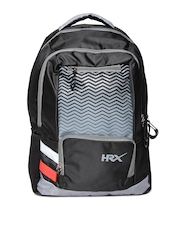 HRX by Hrithik Roshan Men Black & Grey Laptop Backpack
