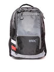 HRX by Hrithik Roshan Men Black & Grey Laptop Backpack