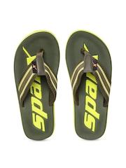 Sparx Men Olive Green Branded Flip-Flops