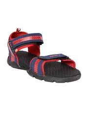 Sparx Men Navy & Red Printed Sports Sandals