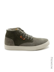 DIESEL Men Olive Green Suede Casual Shoes