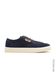 DIESEL Men Navy Suede Sneakers