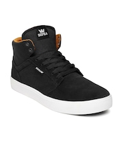 Supra Men Black Yorek Hi Sneakers