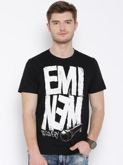 Eminem Black Printed T-shirt