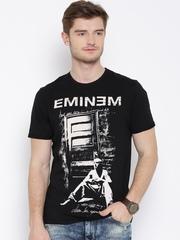 Eminem Black Printed T-shirt
