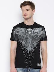 Game Of Thrones Black Three-Eyed Raven Print T-shirt