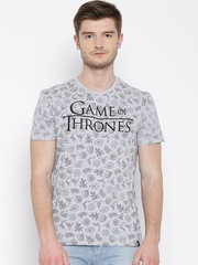 Game Of Thrones Grey Melange Printed T-shirt