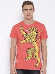 Game Of Thrones Orange House Lannister Print T-shirt