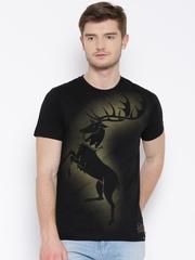 Game Of Thrones Black House Baratheon Print T-shirt