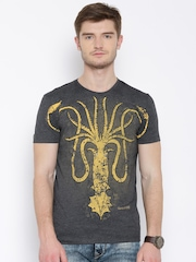 Game Of Thrones Charcoal Grey House Greyjoy Print T-shirt