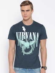 Nirvana Blue Printed T-shirt