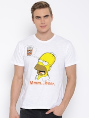Simpsons White Homer Print T-shirt