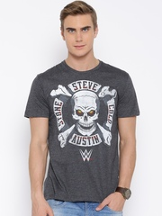 WWE Grey Melange Printed T-shirt