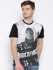 WWE Black Printed T-shirt