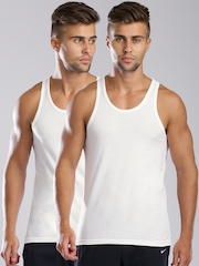 Levi's Pack of 2 White Innerwear Vests 100 TANK