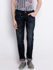 Wrangler Dark Blue Low-Rise Rockville Fit Jeans