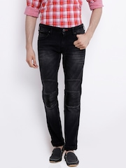 Wrangler Charcoal Grey Skanders Low-Rise Slim Biker Jeans