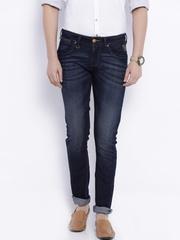 Wrangler Blue Low-Rise Vegas Skinny Fit Jeans
