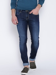 Wrangler Blue Low-Rise Washed Vegas Jeans
