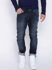 Wrangler Navy Low-Rise Washed Vegas Jeans
