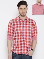Wrangler Red Reversible Casual Shirt