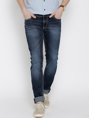 Lee Navy Washed Bruce Skinny Fit Jeans