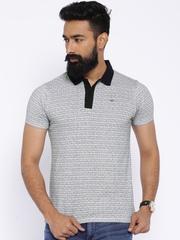 Lee White & Black Polo T-shirt