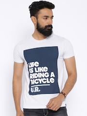 Lee Grey Melange Printed T-shirt