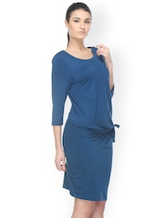 Kaaryah Teal Blue Sheath Dress