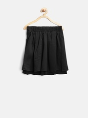Tiny Girl Black Pleated Flared Skirt