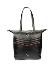 PUMA Women Black Ferrari LS Shoulder Bag