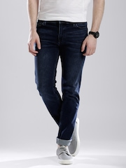 Calvin Klein Jeans Blue Washed Slim Straight Fit Jeans