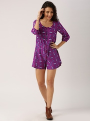 All About You from Deepika Padukone Purple Printed Playsuit