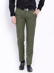 Black khaki Regular Fit Formal Trousers