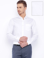 Black Coffee White Slim Fit Formal Shirt