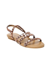 Paprika by Lifestyle Women Bronze-Toned Embellished Flats