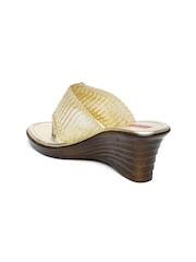 Paprika by Lifestyle Women Gold-Toned Embellished Wedges