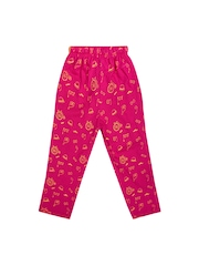 SWEET ANGEL Boys Pink Printed Track Pants