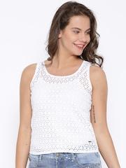 Elle White Crochet Top