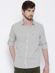 United Colors of Benetton Grey Checked Casual Shirt