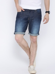 United Colors of Benetton Navy Washed Slim Denim Shorts