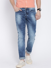 United Colors of Benetton Blue Washed Skinny Fit Jeans