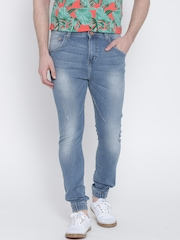 United Colors of Benetton Blue Washed Jogger Fit Jeans