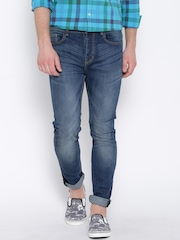 United Colors of Benetton Blue Washed Carrot Fit Jeans