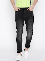 United Colors of Benetton Black Washed Carrot Fit Jeans