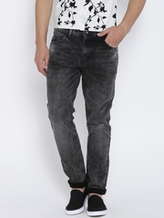 United Colors of Benetton Black Washed Slim Jeans