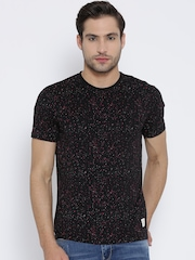 United Colors of Benetton Black Paint Splatter T-shirt