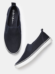 Mast & Harbour Men Navy Slip-On Casual Shoes
