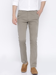 Highlander Grey Slim Fit Casual Trousers